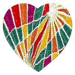 Multicolored Vibrations Jigsaw Puzzle (heart)