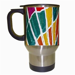 Multicolored Vibrations Travel Mug (white)