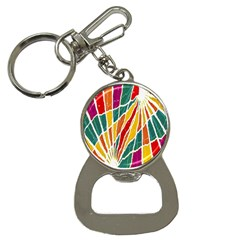 Multicolored Vibrations Bottle Opener Key Chain