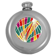Multicolored Vibrations Hip Flask (Round)