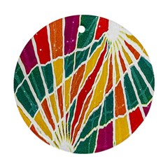 Multicolored Vibrations Round Ornament (Two Sides)