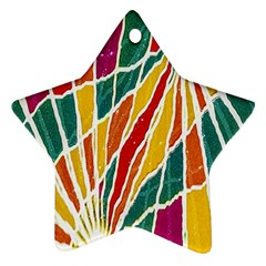 Multicolored Vibrations Star Ornament (two Sides)