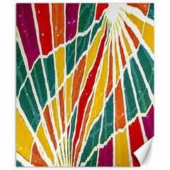 Multicolored Vibrations Canvas 8  X 10  (unframed)