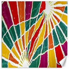 Multicolored Vibrations Canvas 12  x 12  (Unframed)