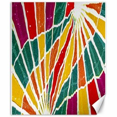 Multicolored Vibrations Canvas 20  x 24  (Unframed)