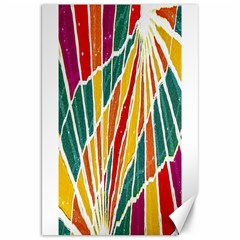 Multicolored Vibrations Canvas 20  x 30  (Unframed)