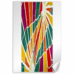 Multicolored Vibrations Canvas 24  X 36  (unframed)