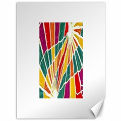 Multicolored Vibrations Canvas 36  x 48  (Unframed)