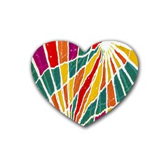 Multicolored Vibrations Drink Coasters 4 Pack (heart)