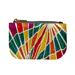 Multicolored Vibrations Coin Change Purse