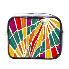Multicolored Vibrations Mini Travel Toiletry Bag (one Side)