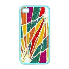 Multicolored Vibrations Apple Iphone 4 Case (color)