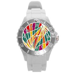Multicolored Vibrations Plastic Sport Watch (large)