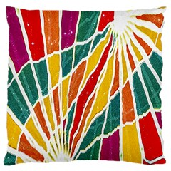 Multicolored Vibrations Large Cushion Case (single Sided)