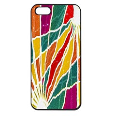 Multicolored Vibrations Apple Iphone 5 Seamless Case (black)