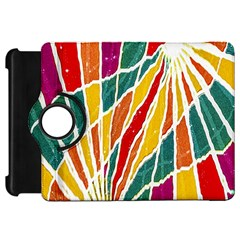 Multicolored Vibrations Kindle Fire Hd 7  (1st Gen) Flip 360 Case