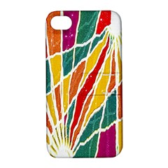 Multicolored Vibrations Apple Iphone 4/4s Hardshell Case With Stand
