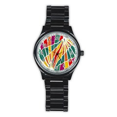 Multicolored Vibrations Sport Metal Watch (black)