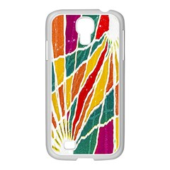 Multicolored Vibrations Samsung Galaxy S4 I9500/ I9505 Case (white)
