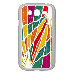Multicolored Vibrations Samsung Galaxy Grand Duos I9082 Case (white)