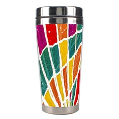 Multicolored Vibrations Stainless Steel Travel Tumbler