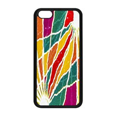 Multicolored Vibrations Apple iPhone 5C Seamless Case (Black)