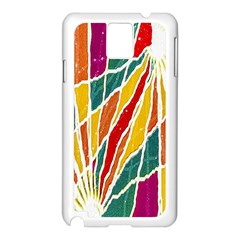 Multicolored Vibrations Samsung Galaxy Note 3 N9005 Case (White)
