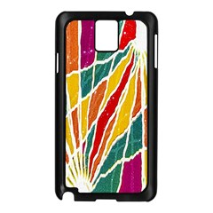 Multicolored Vibrations Samsung Galaxy Note 3 N9005 Case (Black)