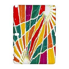 Multicolored Vibrations Samsung Galaxy Note 10.1 (P600) Hardshell Case