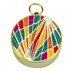 Multicolored Vibrations Gold Compass
