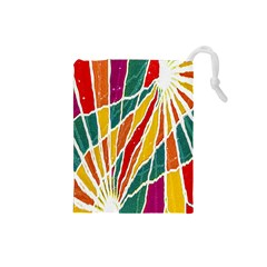 Multicolored Vibrations Drawstring Pouch (Small)