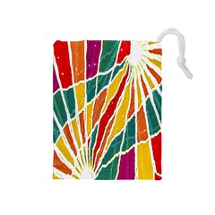 Multicolored Vibrations Drawstring Pouch (Medium)