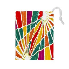 Multicolored Vibrations Drawstring Pouch (Large)