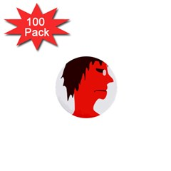 Monster with Men Head Illustration 1  Mini Button (100 pack)