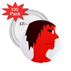 Monster With Men Head Illustration 2 25  Button (100 Pack)