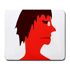 Monster With Men Head Illustration Large Mouse Pad (rectangle)