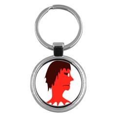 Monster with Men Head Illustration Key Chain (Round)