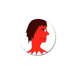 Monster With Men Head Illustration Golf Ball Marker 10 Pack