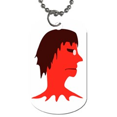 Monster With Men Head Illustration Dog Tag (two Sided)