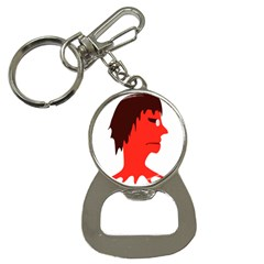 Monster With Men Head Illustration Bottle Opener Key Chain