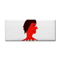 Monster with Men Head Illustration Hand Towel