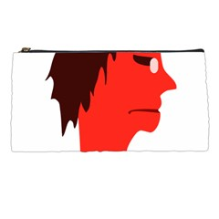 Monster With Men Head Illustration Pencil Case