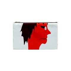 Monster With Men Head Illustration Cosmetic Bag (small)
