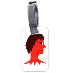 Monster With Men Head Illustration Luggage Tag (two Sides)