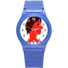 Monster With Men Head Illustration Plastic Sport Watch (small)