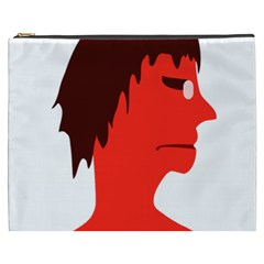 Monster with Men Head Illustration Cosmetic Bag (XXXL)