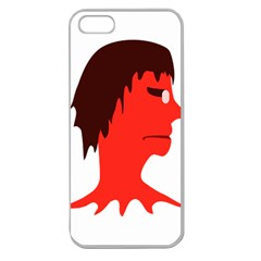 Monster With Men Head Illustration Apple Seamless Iphone 5 Case (clear)