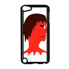 Monster with Men Head Illustration Apple iPod Touch 5 Case (Black)