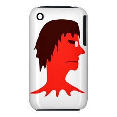 Monster with Men Head Illustration Apple iPhone 3G/3GS Hardshell Case (PC+Silicone)