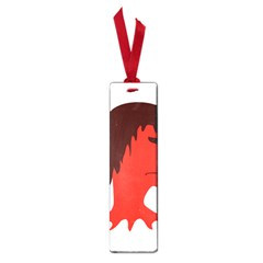 Monster with Men Head Illustration Small Bookmark